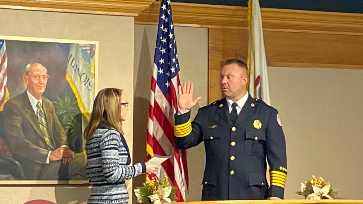 City of Marion Swearing in the New Chief